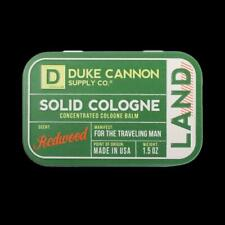 Duke Cannon Redwood Scent Land Solid Cologne Tin Container 1.5 oz Made In USA