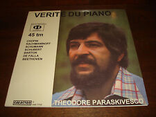 THEODORE PARASKIVESCO Verite du Piano Audiophile SARASTRO 45 RPM LP SAR 7702 NEW