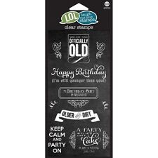 Officially Old Lol Laugh Out Loud Hampton Art Clear Acrylic Stamp Set Sc0619 New