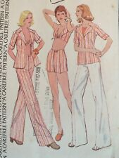Amazing OOP McCALLS 4052 MS Shirt-Jacket Halter Top & Pants/Short PATTERN 18/40B