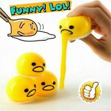 5PCS Squishy Puking Egg Yolk Stress Ball With Yellow Goop Stress Relief Kid Gift