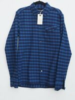 BNWT Designer SCOTCH & SODA Men's Long Sleeve Checked Shirt size S / Fit 36-38""