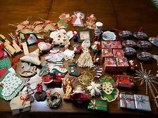 HUGE Christmas Ornaments Lot wood Ornaments Holiday Tree Handmade Gifts Blocks