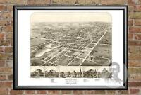 Old Map of Ripon, WI from 1867 - Vintage Wisconsin Art, Historic Decor