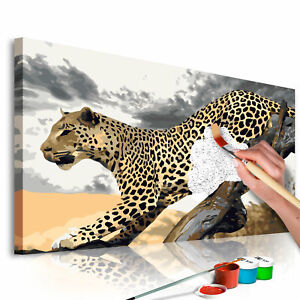 Malset mit Holzrahmen 60x40 Leinwand Erwachsene Gemälde Kit DIY n-A-0314-d-a