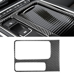 1xCarbon Fiber Center Console Cup Holder Cover For Jaguar F-Pace XE XF 2016-2019