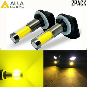 AllaLighting 3000K 881 LED Driving Fog Light Bulb Replacement Lamp Bright Yellow