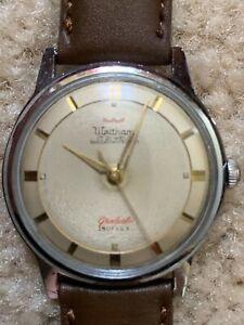"Vintage manual winding WALTHAM ""Graduate"" Isoflex 17 Jewels men's watch."