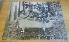 Vintage Conserve Water Poster 1968 Original Group Nude Bathing Together 22x27