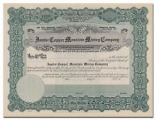 Jumbo Copper Mountain Mining Company Stock Certificate