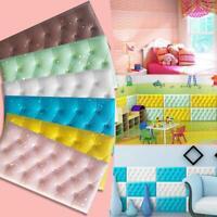 3D Faux Leather PE Foam Wall Sticker Waterproof Self Adhesive Wallpaper A+++ LY
