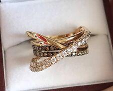 LeVian  Chocolate Diamond Ring - 14 K Yellow Gold - Size 9.5 - Marked