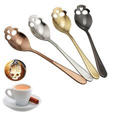 4 Pcs Skull Stainless Steel Coffee Drink Mixing Spoon Tableware Kitchen Teaspoon