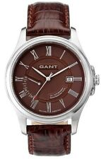 Men's Gant Wristwatch West creek Collection W10375 Brown Leather Strap Day Date