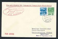 51370) AF Polar FF Tokio Japan - Paris 13.4.58, sp.cover mixed franking