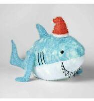Wondershop Christmas Decor Lit Light Up Tinsel Santa Shark With Clear Mini Bulbs