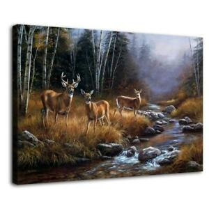 "12""x18""Wild deer Painting HD Canvas prints Painting Home Decor Picture Wall art"