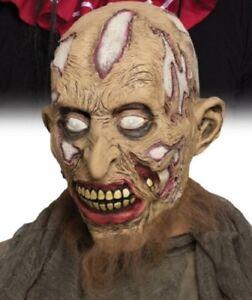 Rotting Flesh Horror Zombie Vinyl Bearded Mask Halloween Haunt Prop #7222