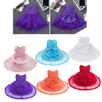 Girls Princess Pageant Lace Dress Toddler Baby Wedding Party Flower Tutu Dress