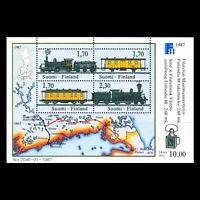 Finland 1987 -  Stamp exhibition FINLANDIA 88 Trains Railroads - Sc 755 CTO