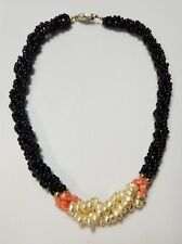 Vtg Faux Pearl Beaded Necklace Retro Jewelry Unbranded