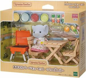 Epoch Sylvanian Families ELEPHANT GIRL BBQ SET Calico Critters DF-16 F/S New
