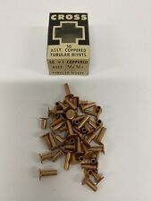 Cross Asst Coppered Tubular Rivets 4/16-8/16 Box Of 47 Vintage