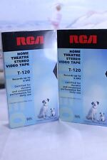 RCA T-120 VHS Home Theater 6 Hour sealed set of 2 tapes