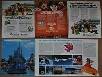 1978-82 EASTERN AIR advertisements x4, with DISNEY characters, Mickey Mouse etc