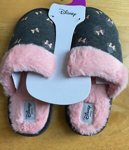 Disney Minnie Mouse Ladies Slippers UK Size 3-8