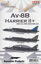 AV-8B Harrier II Plus: VMA-223, 513, 542 (1/48 decals, Superscale 481249)