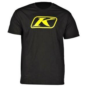 NEW - KLIM Men's ICON Logo Black / Yellow Genuine Motorsports Adventure T-Shirt