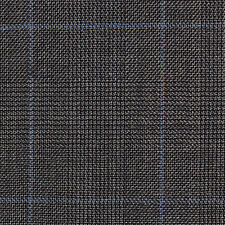 Holland and Sherry Dark Grey/Brown Prince of Wales All Wool Suiting - 3.50 Mtrs