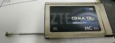 ZTE CDMA MC-311 800MHz.CDMA 1XRTT PCMCIA TYPE II Wireless Modem - FREE SHIP!