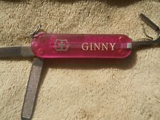 Victorinox Classic SD Swiss Army knife in translucent pink - Ginny