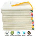 Pack Of 7 Cotton Dish Cloths Large Washing Dishcloths Kitchen Tea Towels 40x38cm
