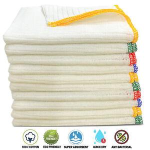Towelogy® 100% Cotton Dish Cloths Super Absorbent Antibacterial Terry Tea Towels
