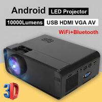 1080P 3D Home LED Projector 10000 Lumens Home Cinema Theater 4K WiFi for Android