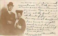 G83/ Webster City Iowa RPPC Postcard 1905 Man Woman