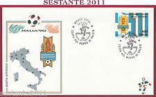 ITALIA FDC BUSTA UFFICIALE ITALIA '90 COPPA DEL MONDO URUGUAY 1990 MILANO U860