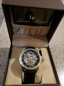 Lucien Piccard LP-40052M-SG-01 MANUAL WIND Mens Watch USED