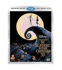 THE NIGHTMARE BEFORE CHRISTMAS NEW BLU-RAY +3D+DVD+DC 3DISC SET JACK SKELLINGTON