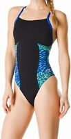 Speedo Women's Swimwear Black Size 10 Endurance+ One Piece Swimsuit $84 #092