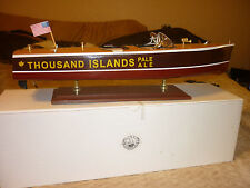 """Wood Chris Craft Boat, 19 & 1/2"""" Long, Thousand Islands Pale Ale Advertisment"""