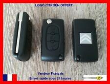 Coque Plip Clé clef CITROEN C1/C2/C3/C4/C5/C8 Picasso/Bouton Phare CE0523 + LOGO