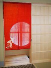 Kyoto Noren Door curtain Tapestry Roketsu Dye Red Neko Cat 88x150 Japan