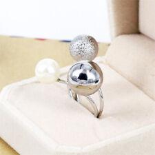 Metal Ball Simulated Pearl Multi Layer Ring Band Women Fashion Jewelry 1Pc