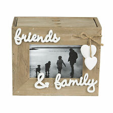 Ashley Farmhouse Friends & Family 3 Drawer Photo Album Shabby Chic Wooden Heart
