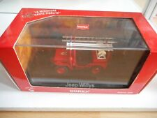 Norev Jeep Willys Sapeurs Pompiers in Red on 1:43 in Box