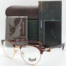 NEW Persol RX Eyeglasses frame PO8129V 24 50mm Havana Tortoise Club AUTHENTIC